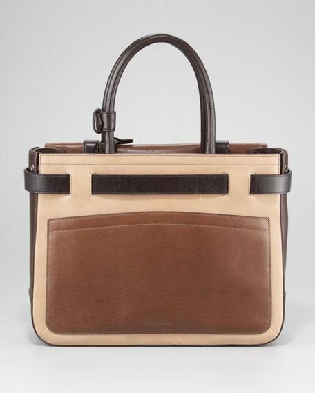 Boxer Tote Bag, Brown Multi