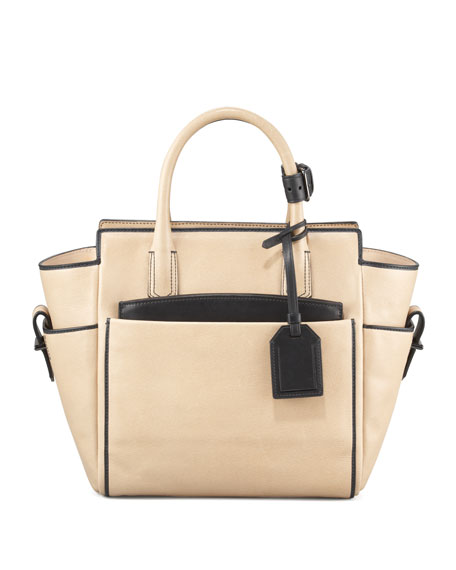 Mini Atlantique Tote Bag, Nude Black