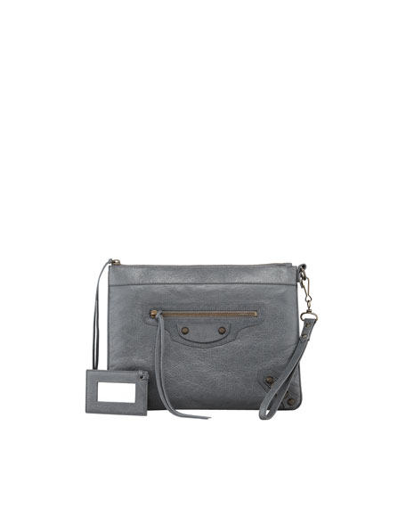 Classic Handle Bag, Gris Tarmac