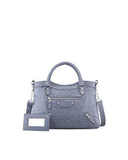 Balenciaga Giant 12 Nickel Town Bag, Jacynthe