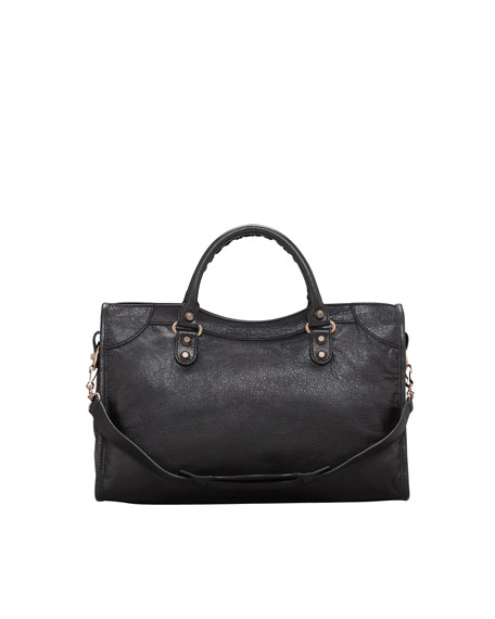Giant 12 Rose Golden City Bag, Black