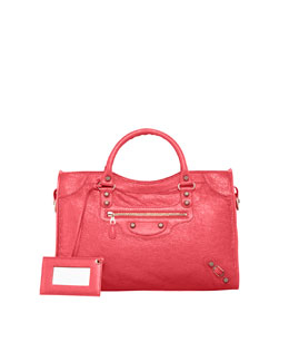 Balenciaga Giant 12 Rose Golden City Bag, Rose Thulian