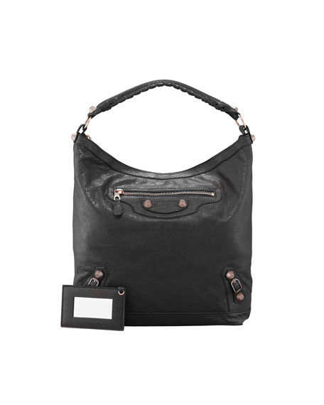 Giant 12 Rose Golden Day Bag, Black