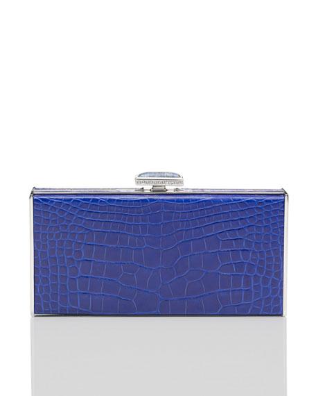 East-West Rectangle Clutch Bag, Sapphire