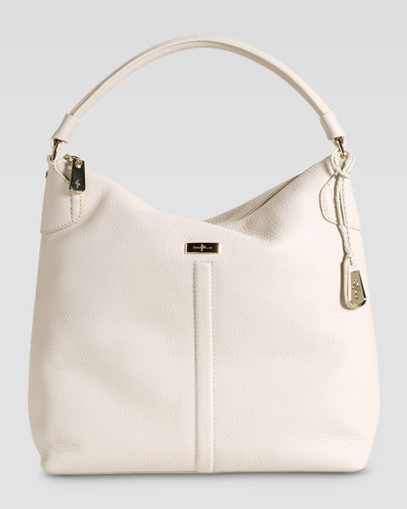 Village Avery Zip Large Hobo Bag, Stone