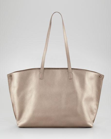 Ai Metallic Leather Tote Bag, Medium