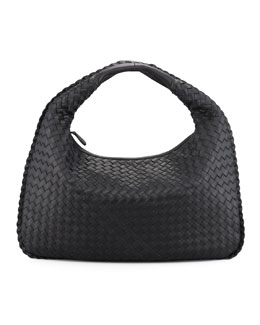 Bottega Veneta Medium Veneta Hobo Bag, Black