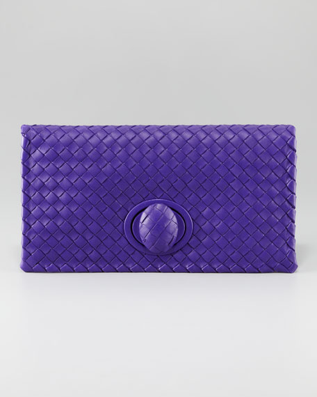 Veneta Fold-Over Clutch Bag