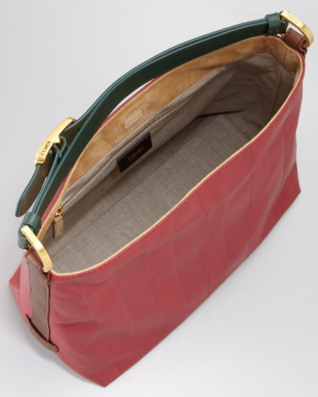 Pequin Tonal-Stripe Hobo Bag