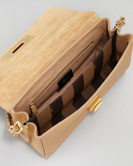 Pequin Tonal-Stripe Shoulder Bag