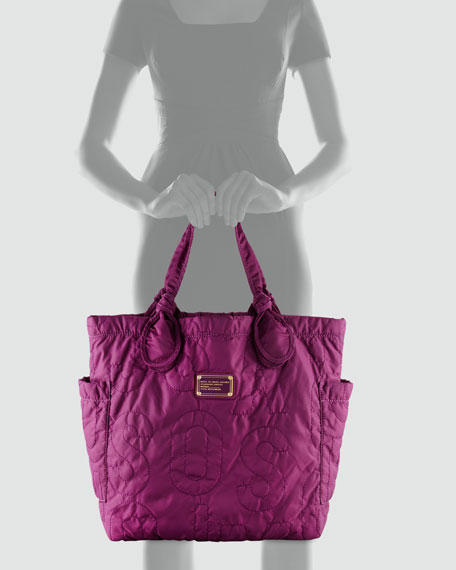 Pretty Nylon Tote Bag, Dark Magenta