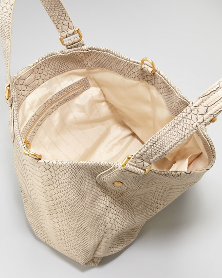 Supersonic Francesca Snake-Embossed Tote Bag