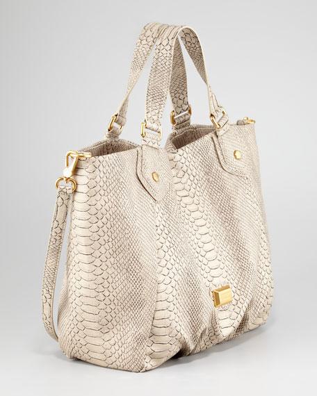 Supersonic Francesca Snake-Embossed Tote Bag