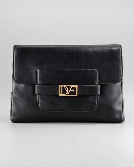 Diane von Furstenberg Mimosa Leather Clutch Bag