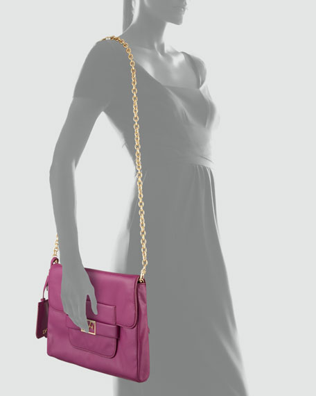 Mimosa Leather Clutch Bag