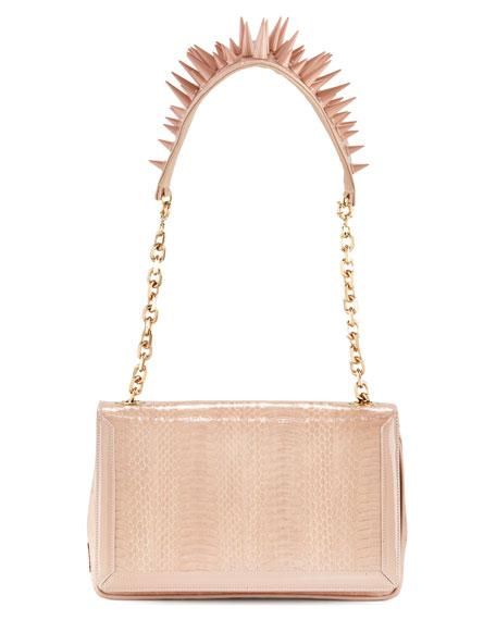 Artemis Spike-Strap Snakeskin Bag