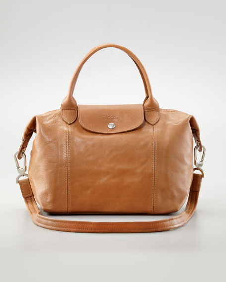Le Pliage Cuir Small Handbag with Strap