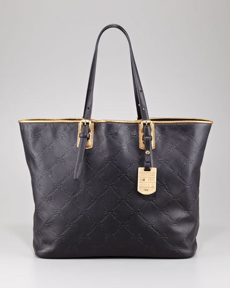 LM Cuir Large Tote Bag, Oak Brown