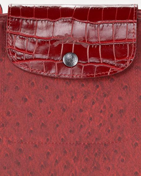 Le Pliage Autruche Handbag, Large