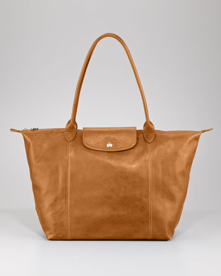 Le Pliage Cuir Shoulder Tote Bag
