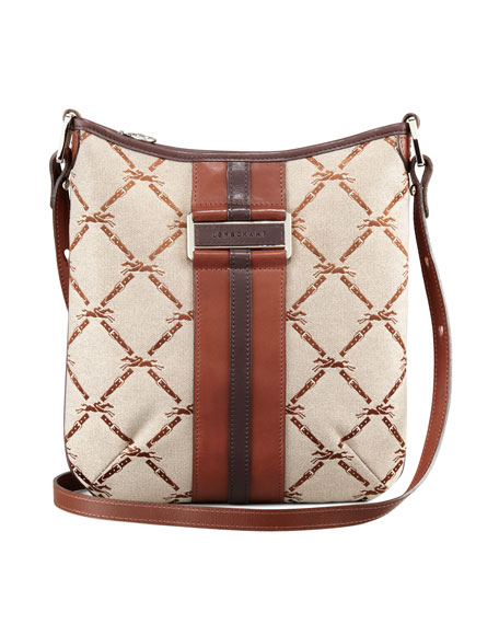 LM Jacquard Crossbody Bag, Brown