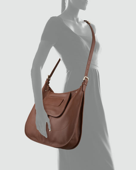 Adjustable Crossbody Bag, Oak Brown