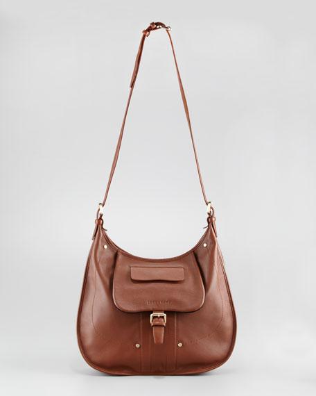 Adjustable Crossbody Bag, Oak Brown