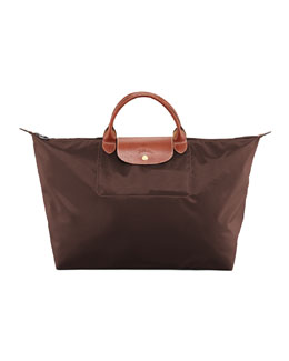 Longchamp Le Pliage Large Travel Tote Bag, Chocolate