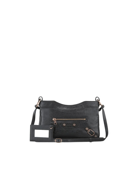 Giant 12 Rose Golden Hip Crossbody Bag, Noir