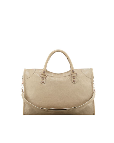 Giant 12 Rose Golden City Bag, Cappuccino