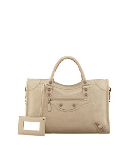 Balenciaga Giant 12 Rose Golden City Bag, Cappuccino