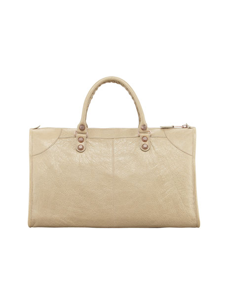 Giant 12 Rose Golden Work Bag, Latte