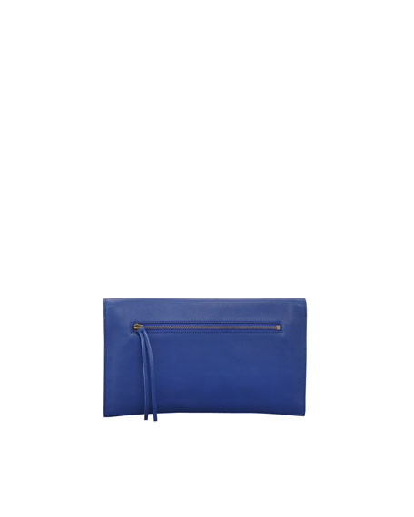 Papier View Clutch Bag, Marine