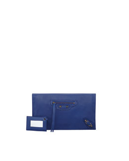 Balenciaga Papier View Clutch Bag, Marine