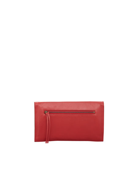 Paper View Clutch Bag, Rouge