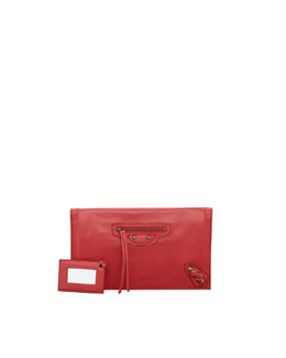 Balenciaga Paper View Clutch Bag, Rouge