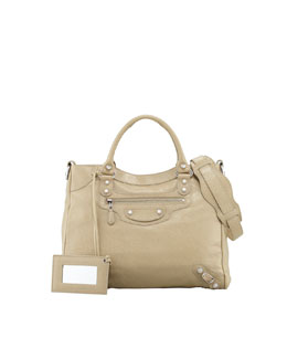 Balenciaga Giant 12 Nickel Velo Bag, Latte
