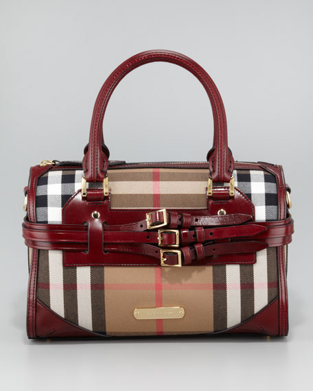Check Bowler Bag, Medium