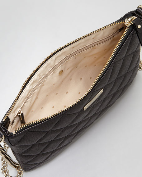 gold coast ginnie crossbody bag, black