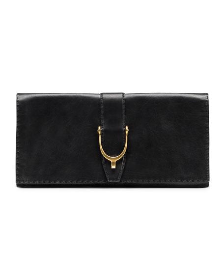 Soft Stirrup Leather Clutch Bag