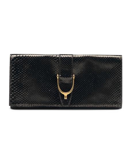 Soft Stirrup Python Clutch Bag