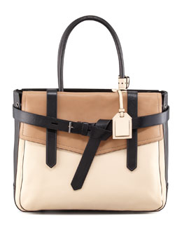 Reed Krakoff Boxer 1 Calfskin Tote Bag, Natural/Black