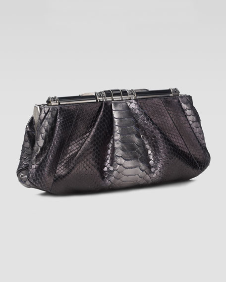 Constance Python Clutch Bag