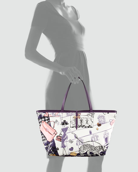 Bice Scarf-Print Tote Bag