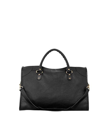 Classic Golden City Bag, Black