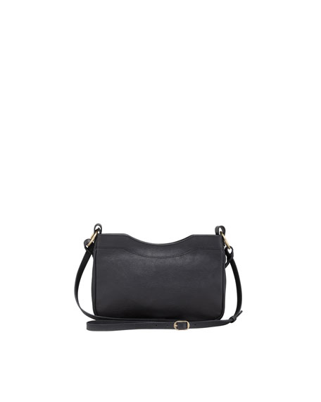 Classic Golden Hip Crossbody Bag, Black