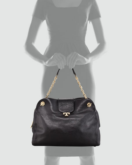 Megan Leather Satchel Bag