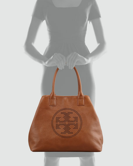 Stacked Logo Large Tote Bag, Tan