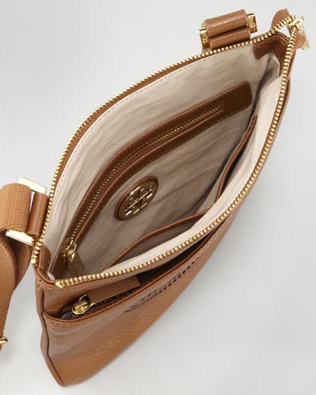 Tory Burch Leather Perforated Swingpack Bag, Original Tan