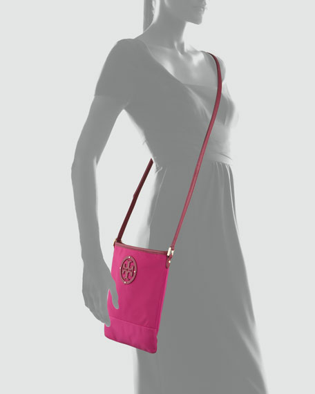 Stacked Logo Swingpack Bag, Fuchsia